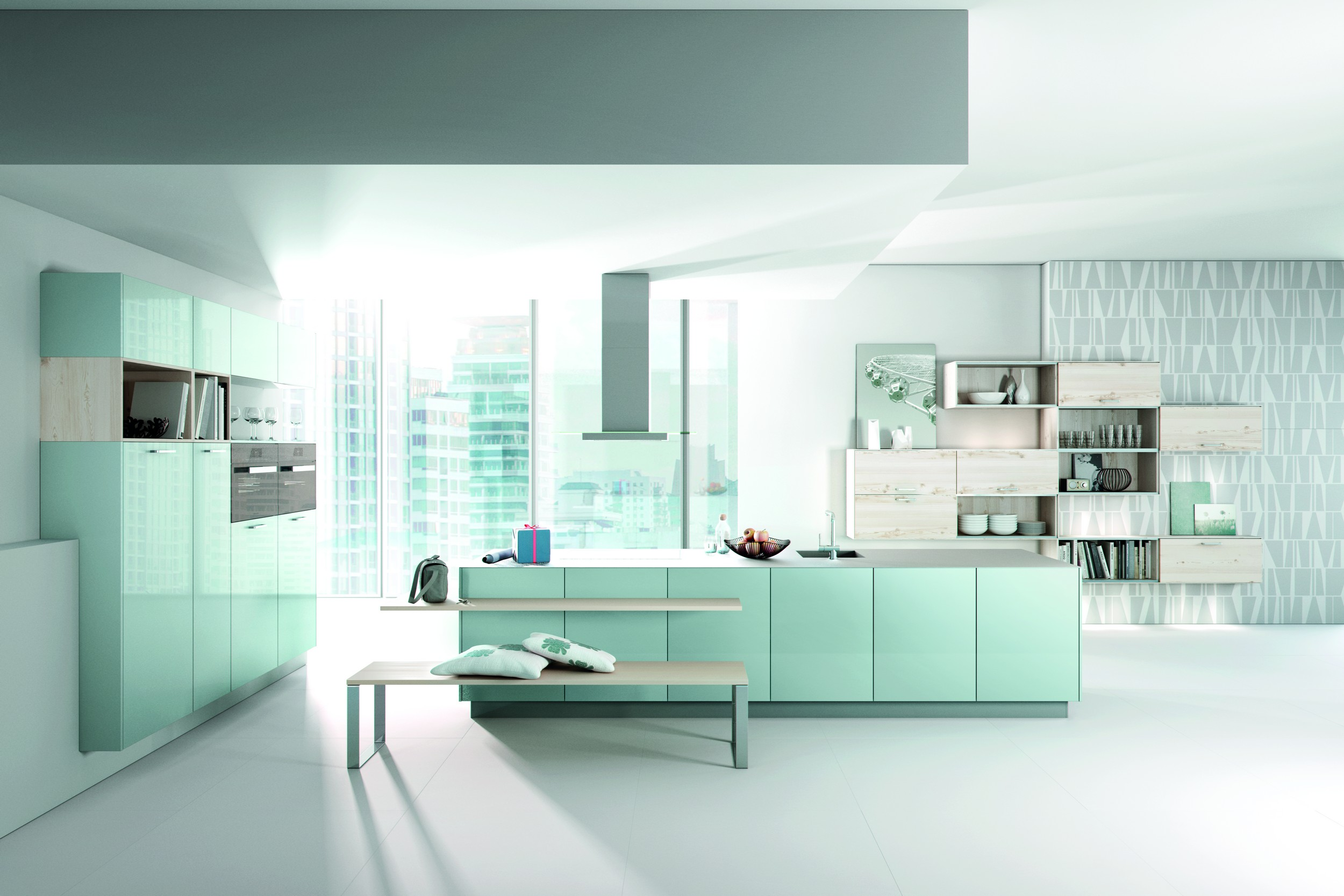 Moderne Blauw Keuken : Modern vankempen keukenstudio