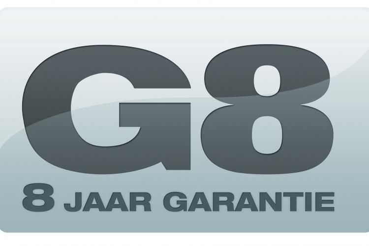 Logo van 8 jaar garantie